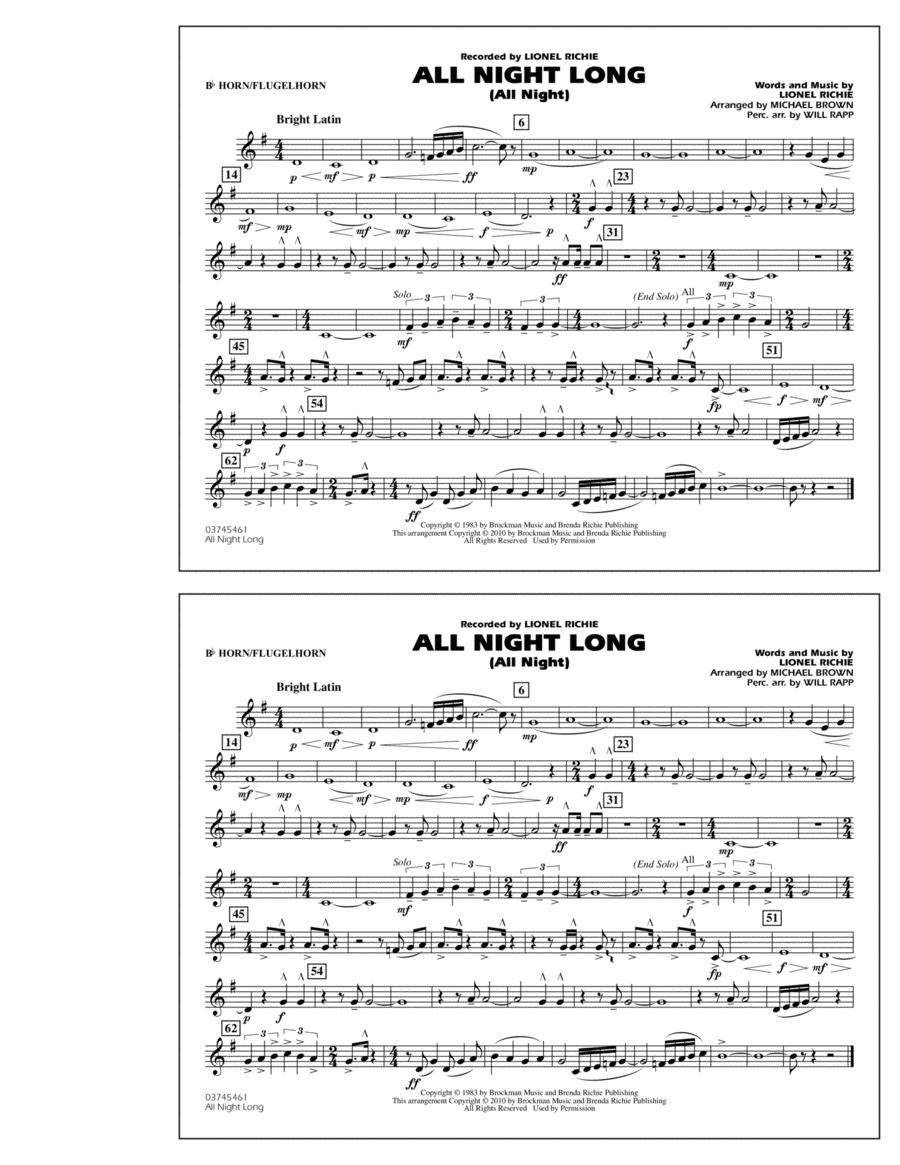 All Night Long (All Night) - Bb Horn/Flugelhorn