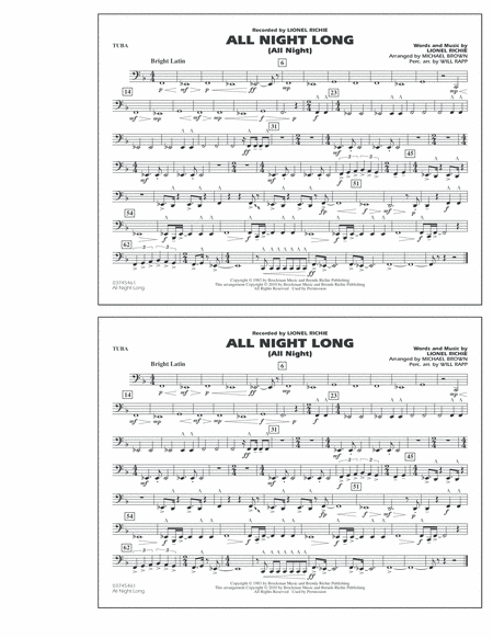 All Night Long (All Night) - Tuba