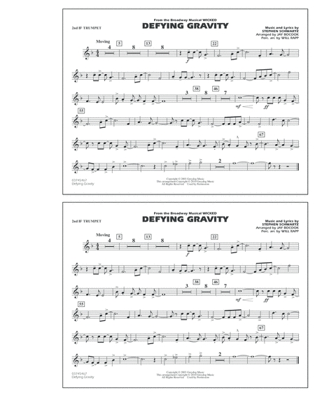 Defying Gravity (from Wicked) - 2nd Bb Trumpet