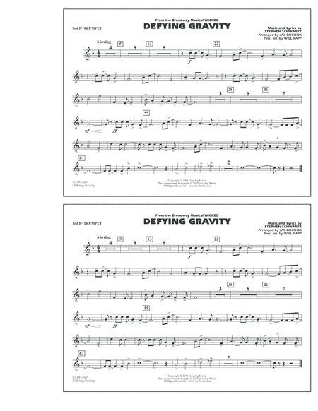 Defying Gravity (from Wicked) - 3rd Bb Trumpet