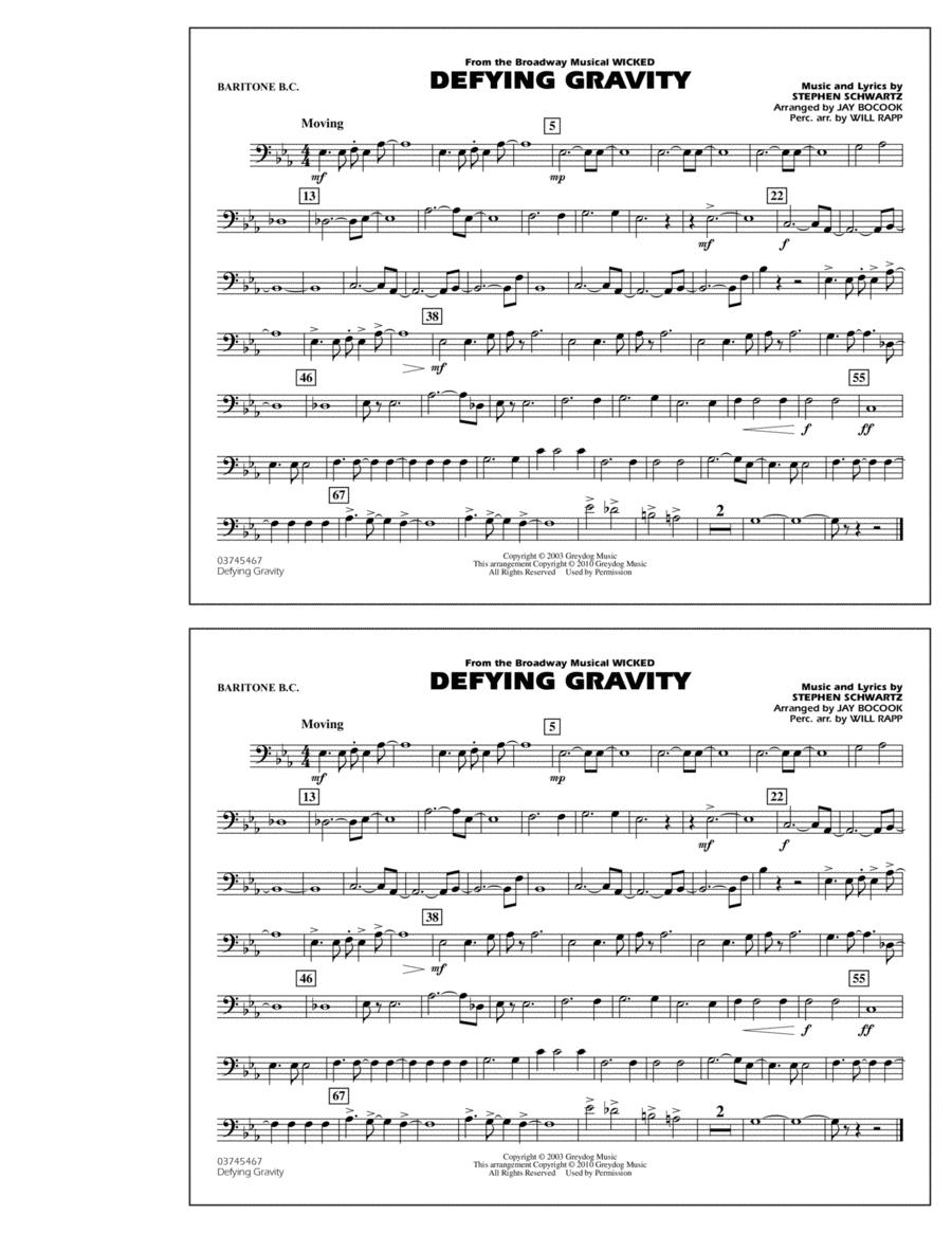 Defying Gravity (from Wicked) - Baritone B.C.