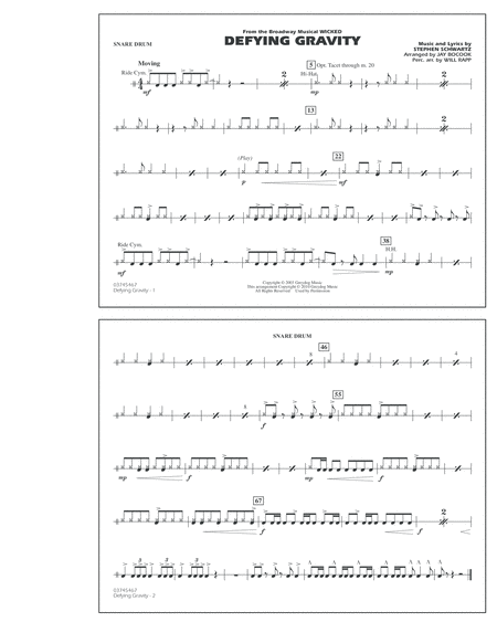 Defying Gravity (from Wicked) - Snare Drum