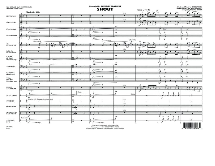 Shout - Full Score