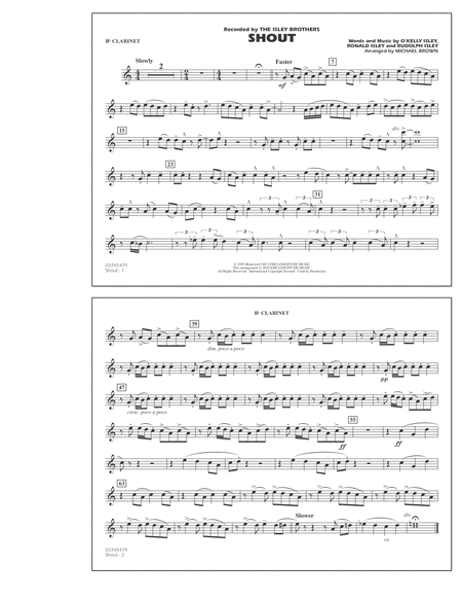Shout - Bb Clarinet