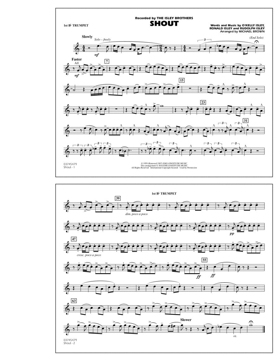 Shout - 1st Bb Trumpet