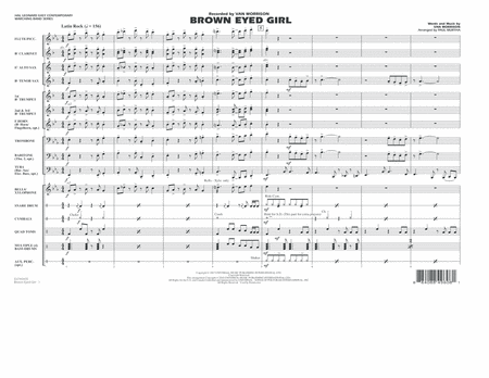 Brown Eyed Girl - Full Score