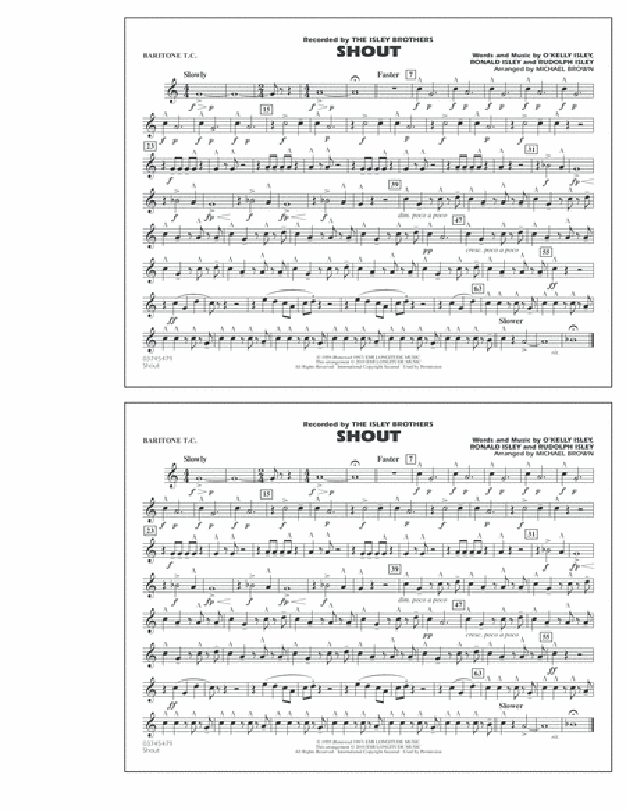 Shout - Baritone T.C.