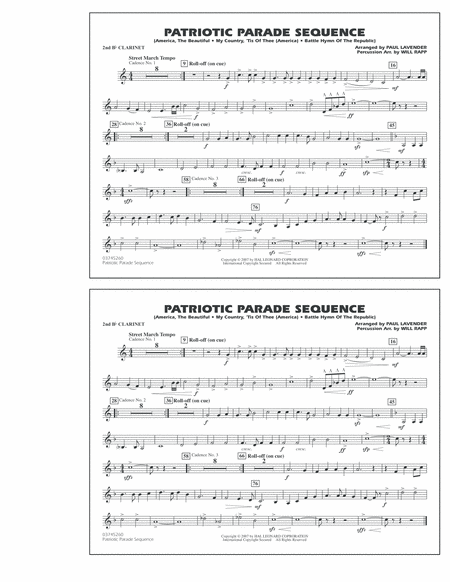Patriotic Parade Sequence - 2nd Bb Clarinet