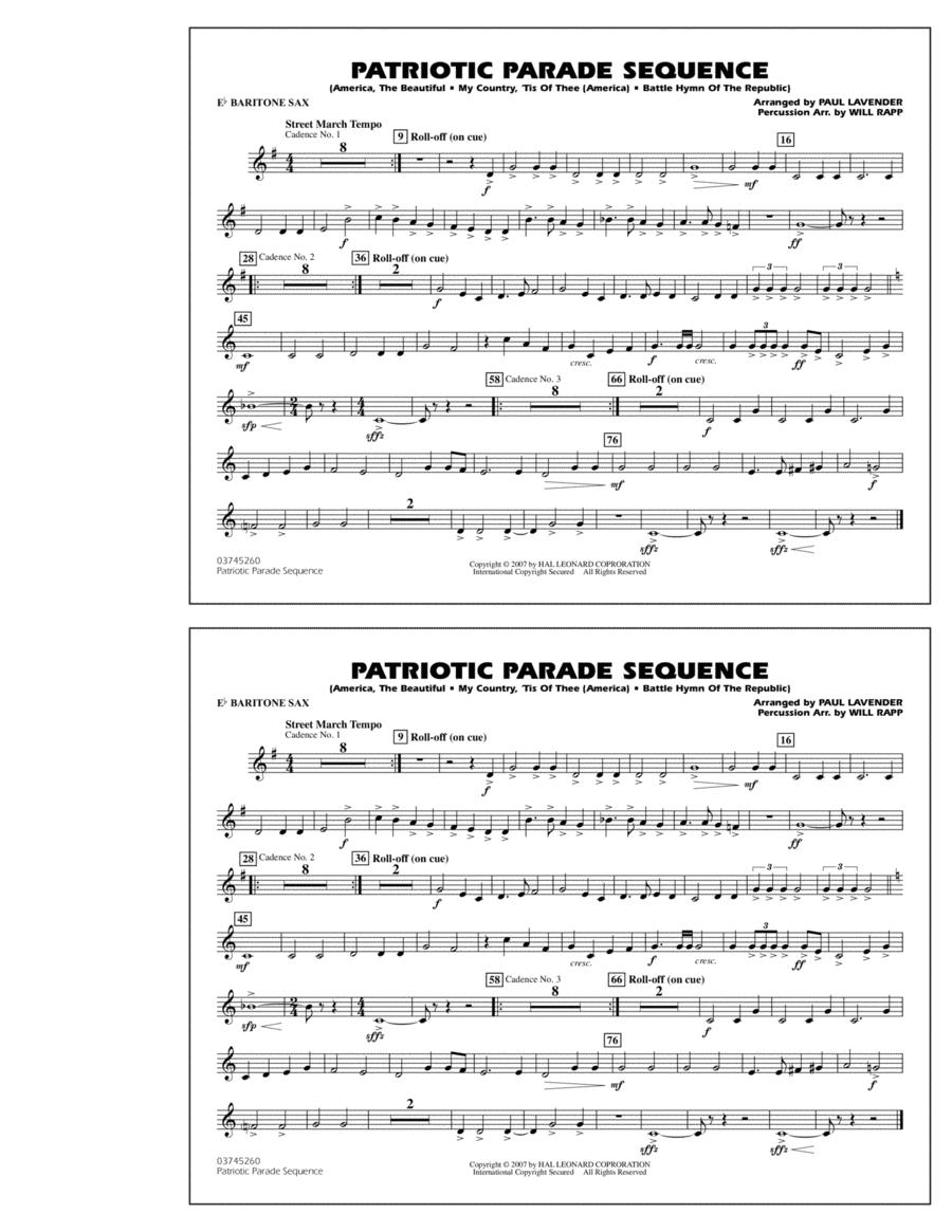 Patriotic Parade Sequence - Eb Baritone Sax