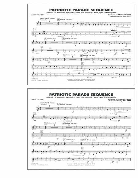 Patriotic Parade Sequence - 2nd Bb Trumpet