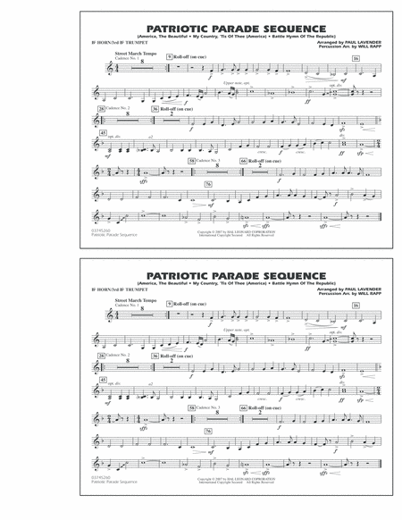 Patriotic Parade Sequence - Bb Horn/3rd Bb Tpt