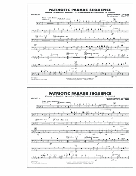 Patriotic Parade Sequence - Trombone