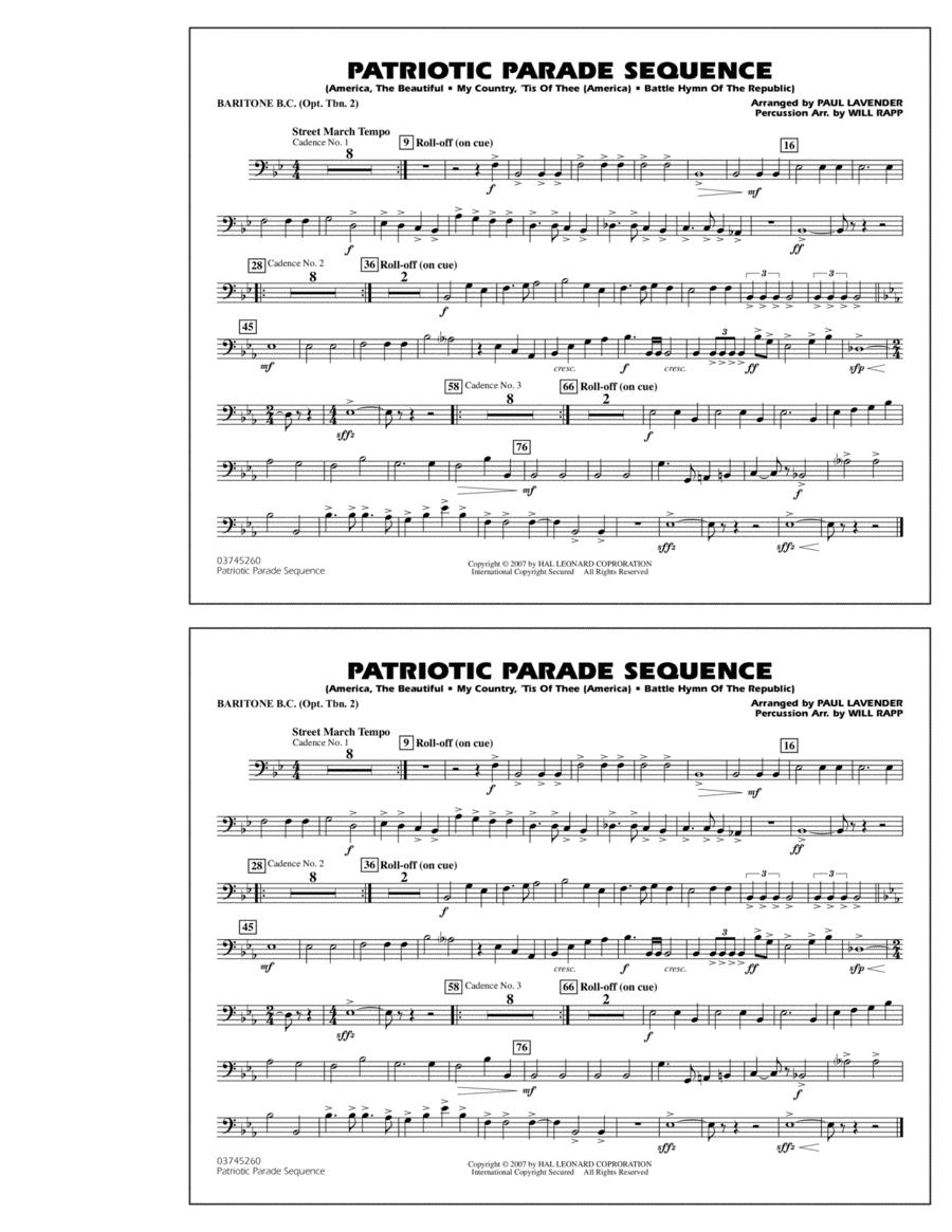Patriotic Parade Sequence - Baritone B.C. (Opt. Tbn. 2)
