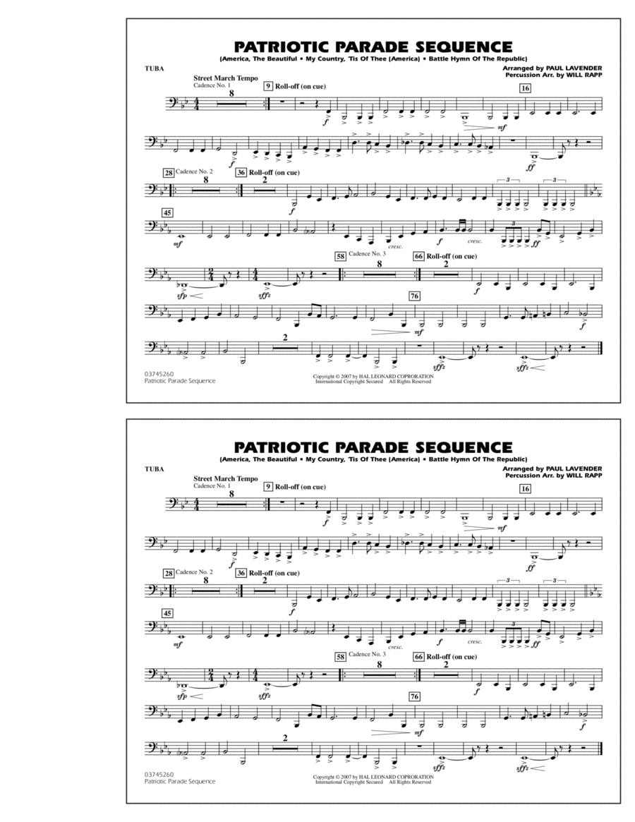 Patriotic Parade Sequence - Tuba
