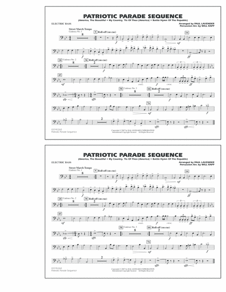 Patriotic Parade Sequence - Electric Bass