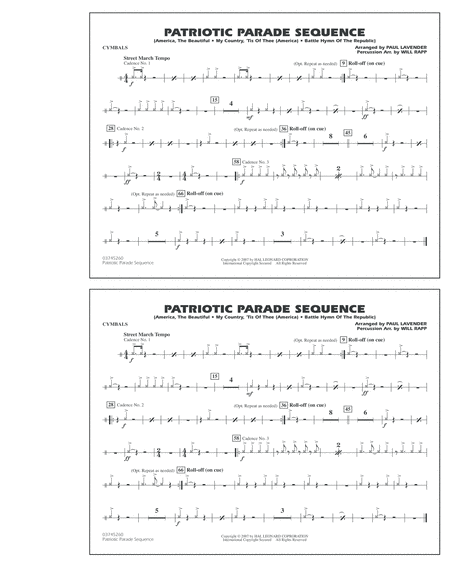 Patriotic Parade Sequence - Cymbals
