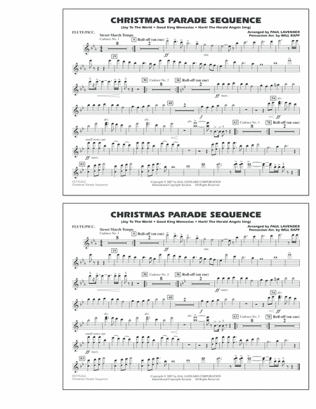 Christmas Parade Sequence - Flute/Piccolo