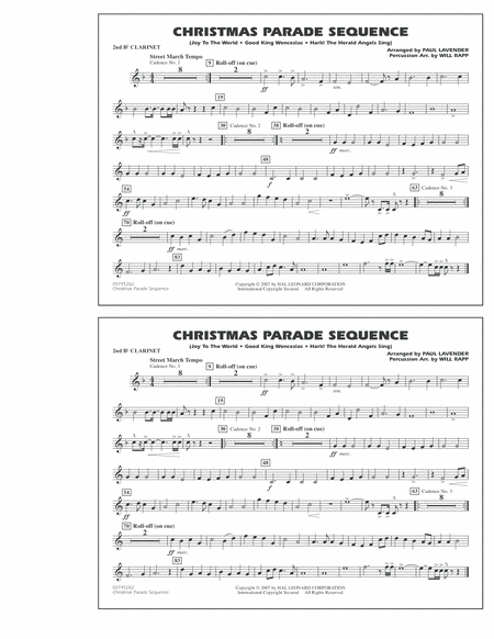 Christmas Parade Sequence - Bb Clarinet 2