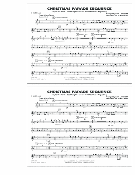 Christmas Parade Sequence - Eb Alto Sax