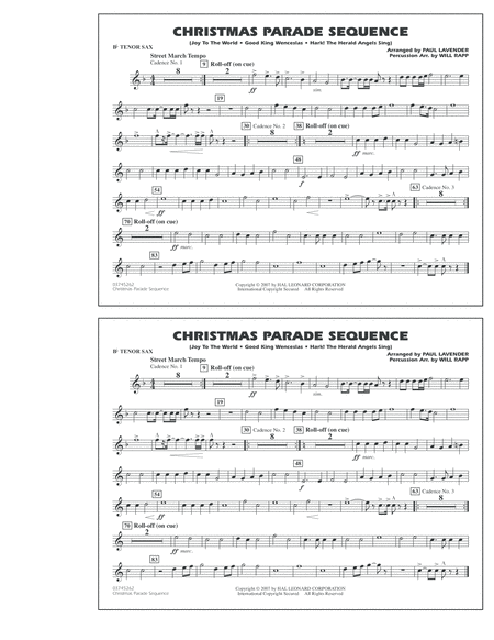 Christmas Parade Sequence - Bb Tenor Sax