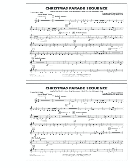 Christmas Parade Sequence - Eb Baritone Sax