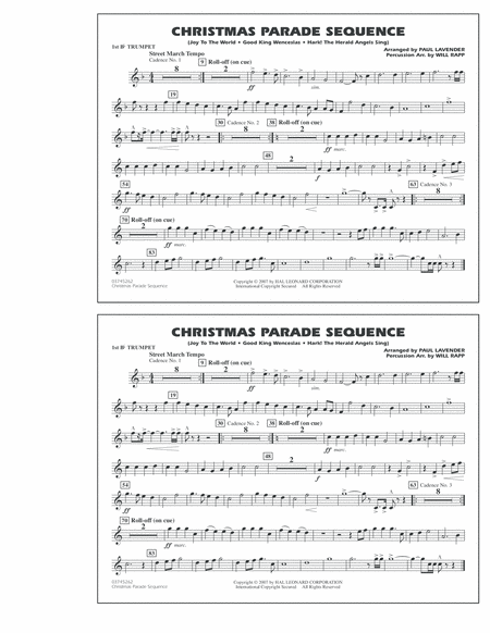 Christmas Parade Sequence - 1st Bb Trumpet