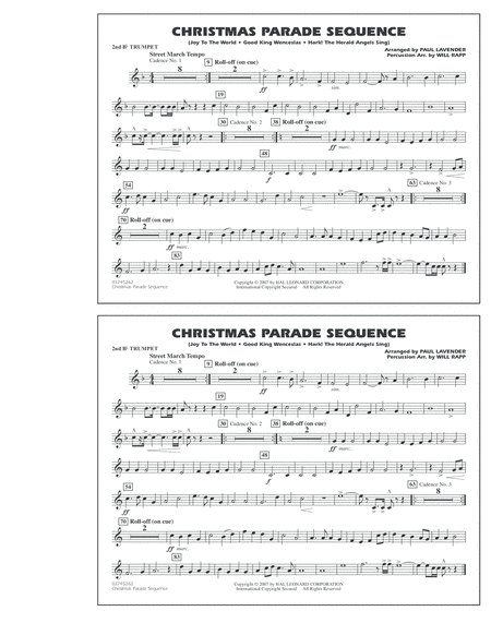 Christmas Parade Sequence - 2nd Bb Trumpet