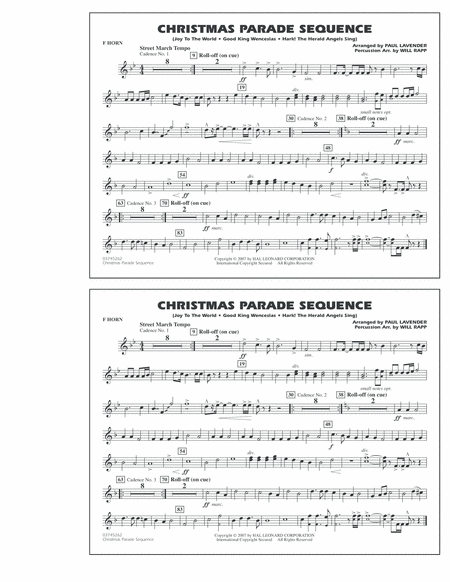 Christmas Parade Sequence - F Horn