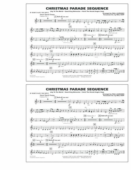 Christmas Parade Sequence - Bb Horn/3rd Bb Tpt