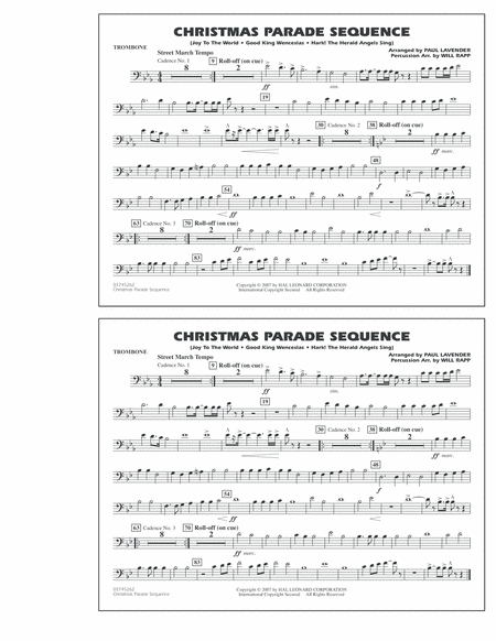 Christmas Parade Sequence - Trombone