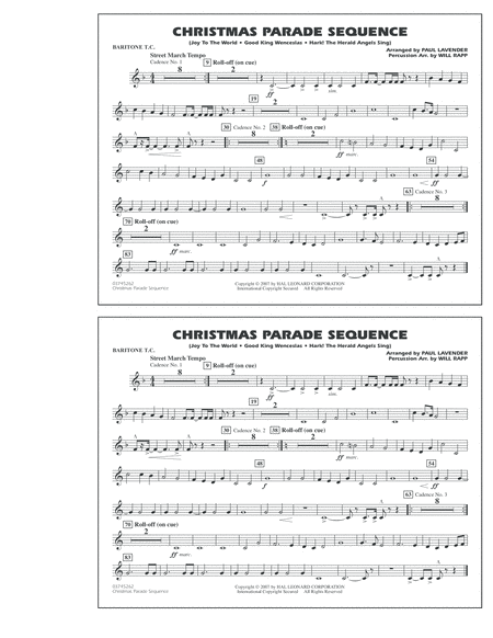 Christmas Parade Sequence - Baritone T.C.