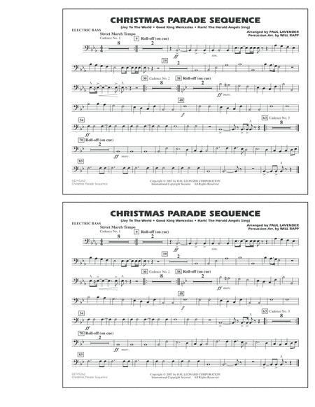Christmas Parade Sequence - Electric Bass