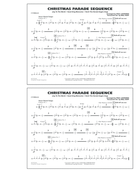 Christmas Parade Sequence - Cymbals