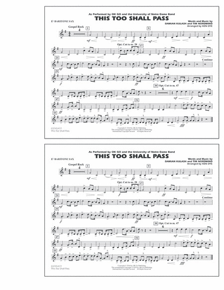 This Too Shall Pass - Eb Baritone Sax