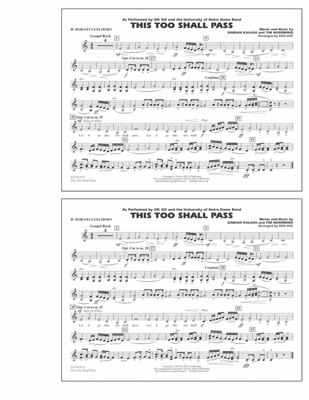 This Too Shall Pass - Bb Horn/Flugelhorn