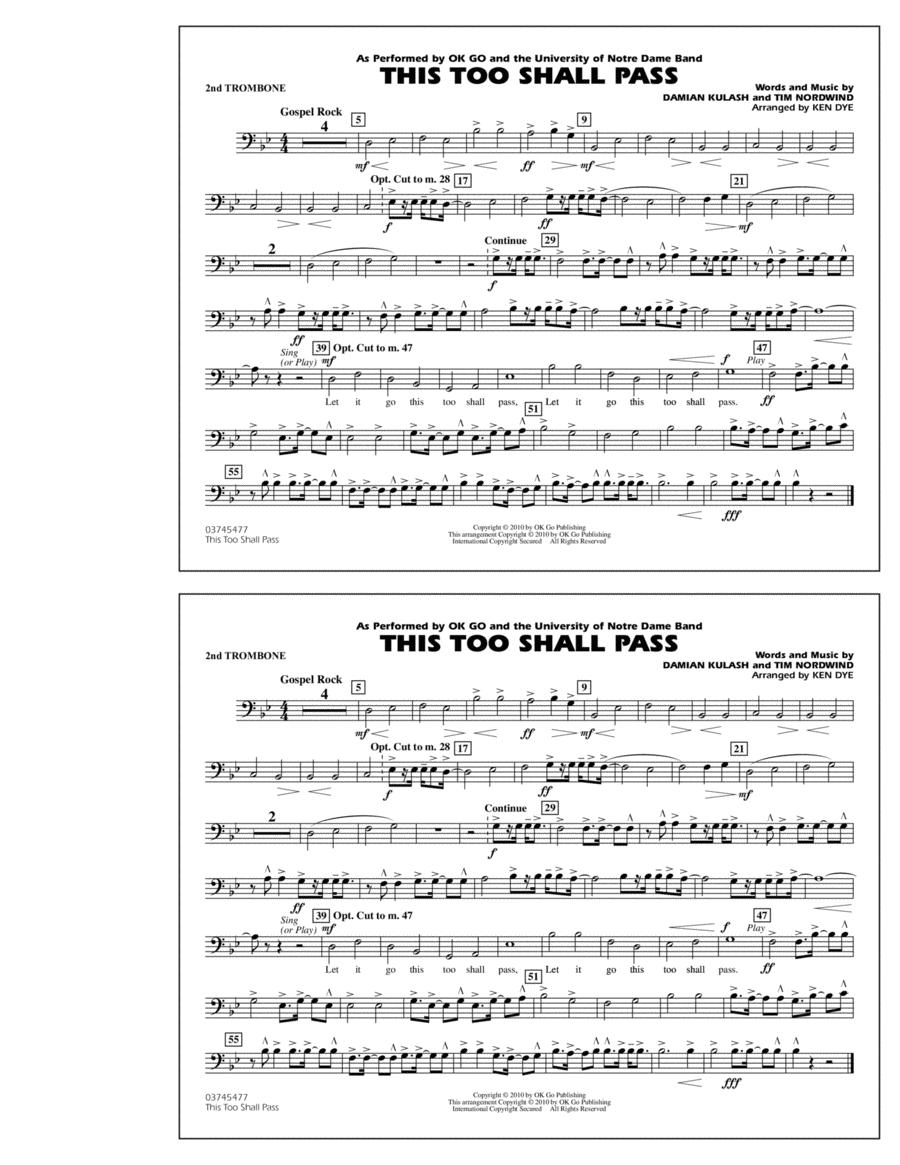 This Too Shall Pass - 2nd Trombone