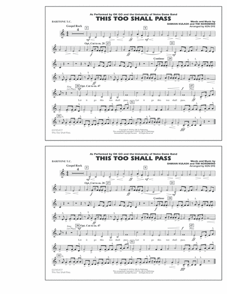 This Too Shall Pass - Baritone T.C.