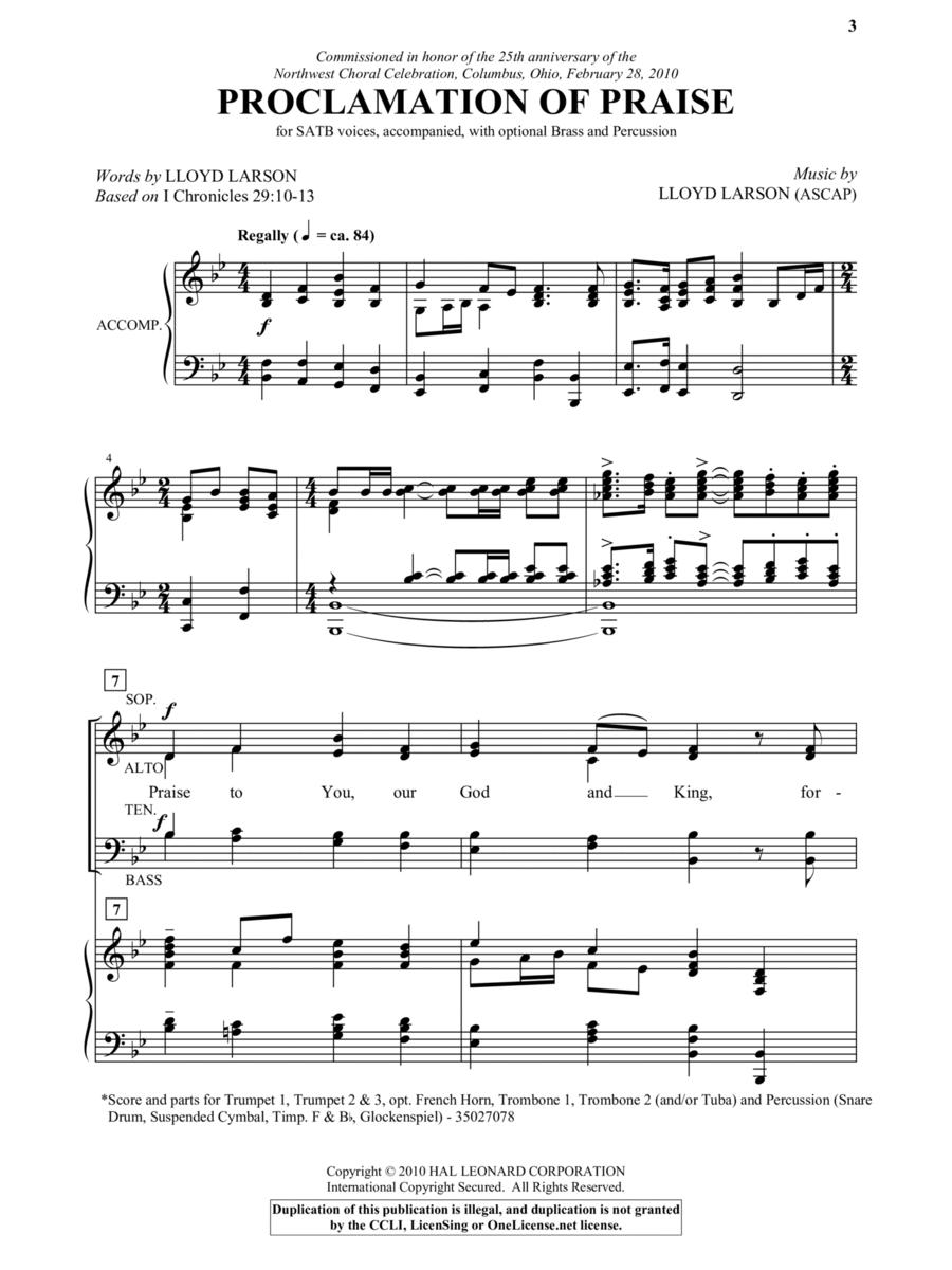 Proclamation Of Praise