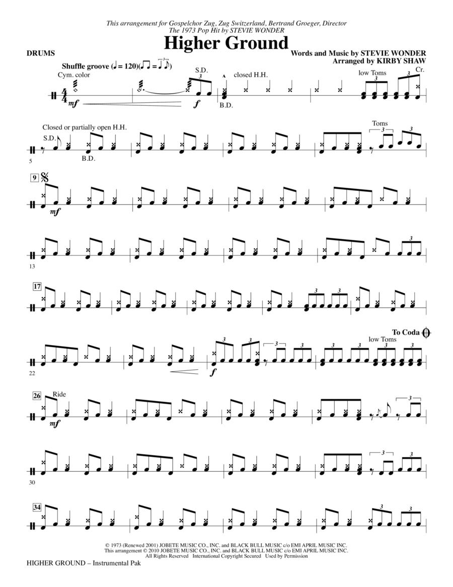 Higher Ground - Drums