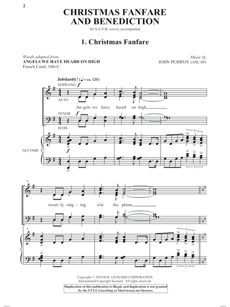 Christmas Fanfare And Benediction