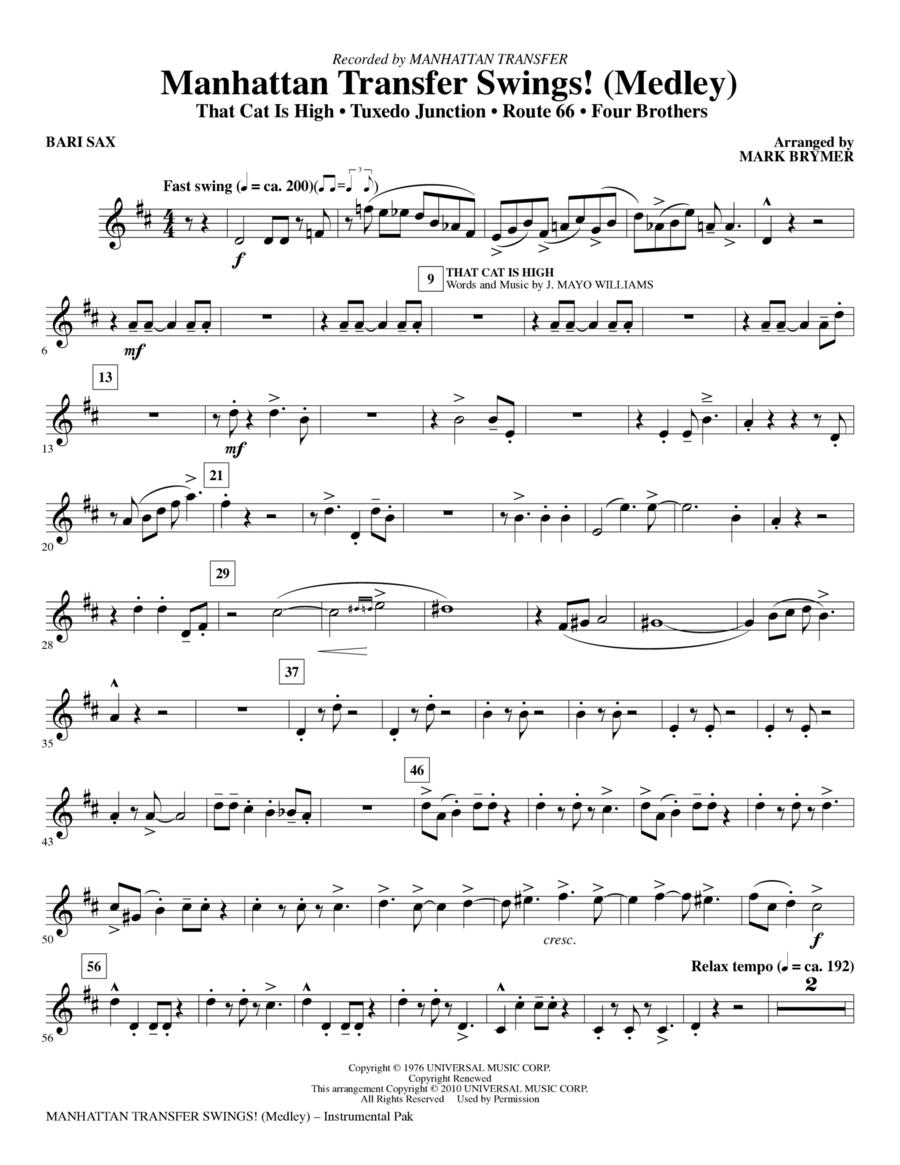 Manhattan Transfer Swings! (Medley) - Baritone Sax