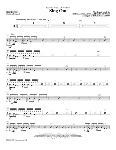 Sing Out - Percussion 1