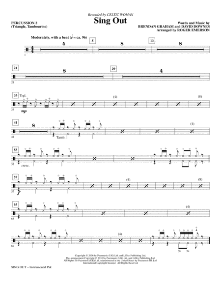 Sing Out - Percussion 2
