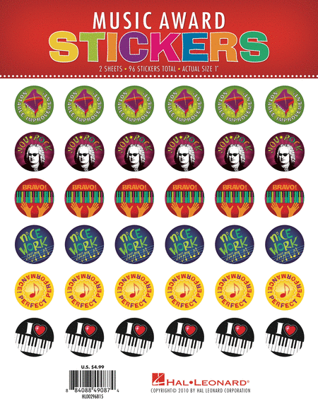 Music Award Stickers