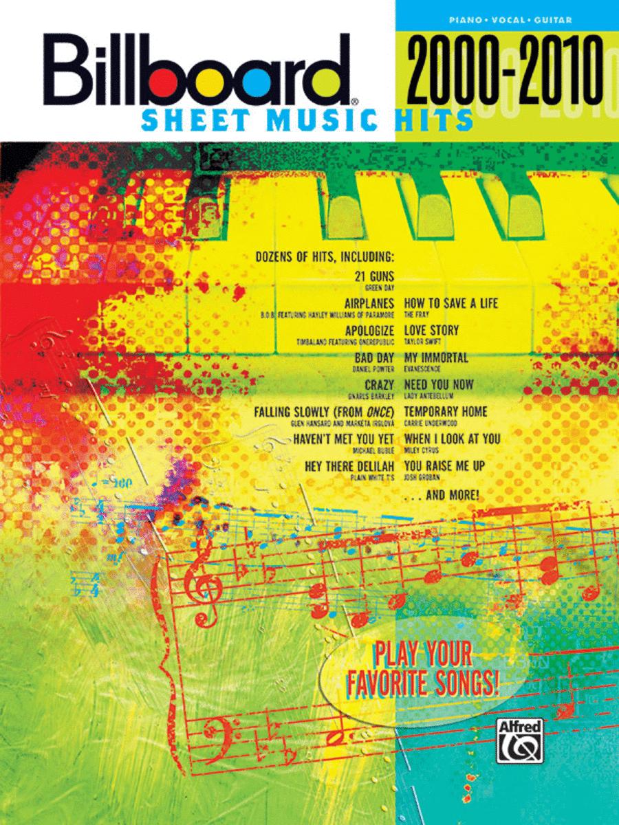 Billboard Sheet Music Hits 2000-2010