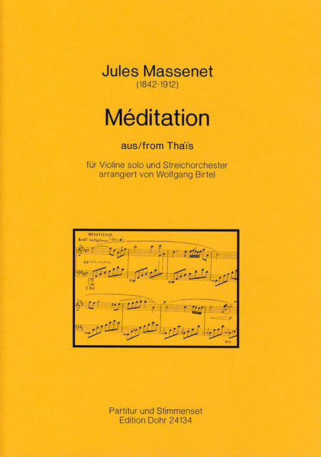 Meditation aus Thais fur Violine solo und Streichorchester