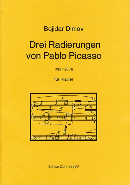Drei Radierungen von Pablo Picasso fur Klavier