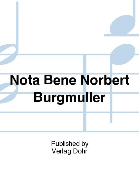 Nota Bene Norbert Burgmuller