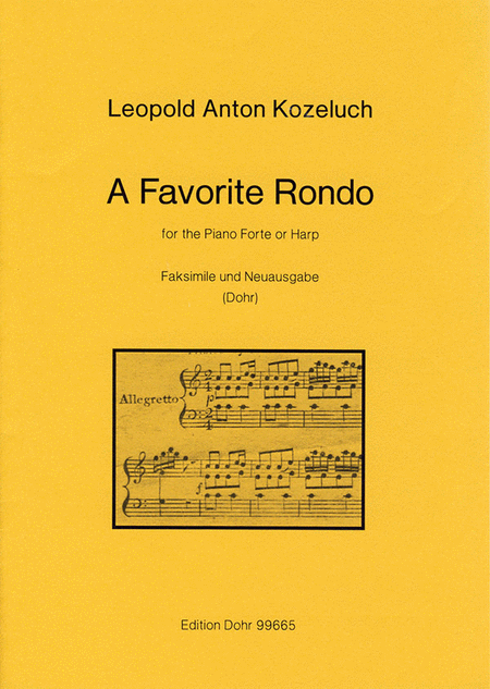 A favorite Rondo for the Pianoforte or Harp o.op.