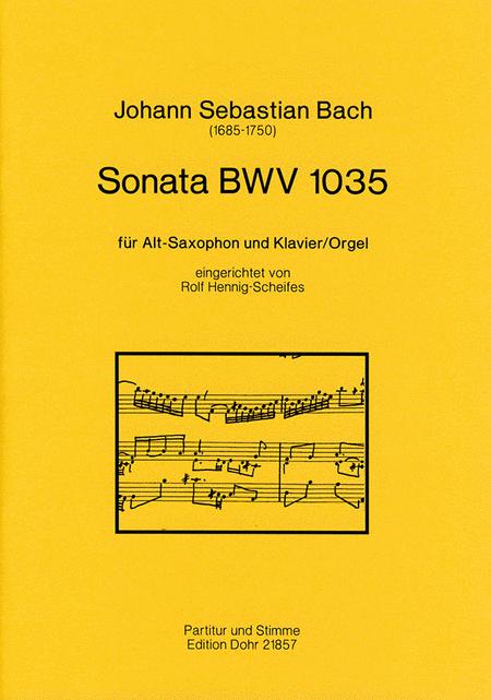 Sonata fur Alt-Saxophon und Klavier (Orgel) BWV 1035